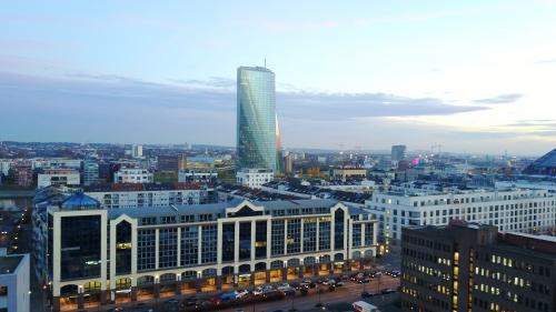 Innenstadt mit Blick auf die EZB